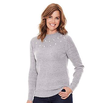 Chums Chums Jumper With Pearl Trim