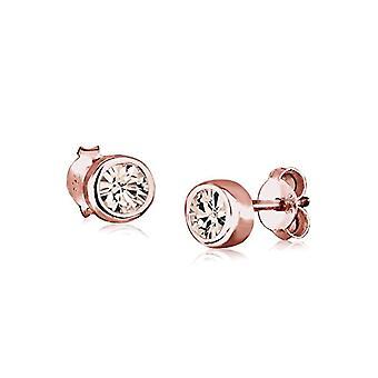 Elli donna in argento Sterling 925 - placcato oro rosa - 0301930516 Orecchini con cristalli Swarovski