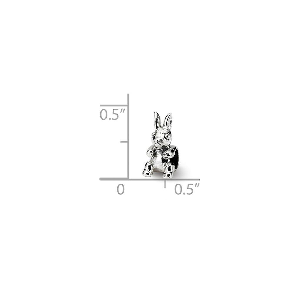 925 Sterling Silver Polished finish Reflections SimStars Kids Bunny Bead Charm Pendant Necklace Jewelry Gifts for Women