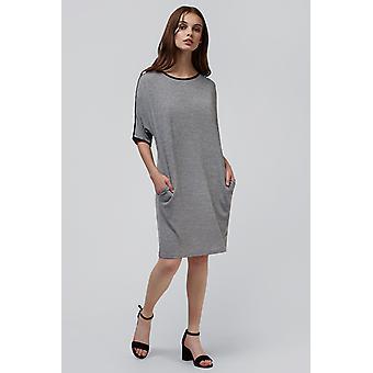 Louche Dora Knit Dress Grey
