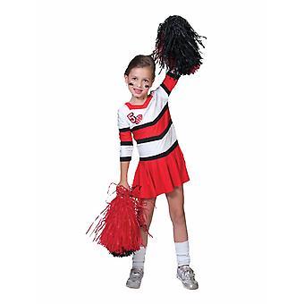 Cheerleader lasten puku Pompom tyttö puku tytöille