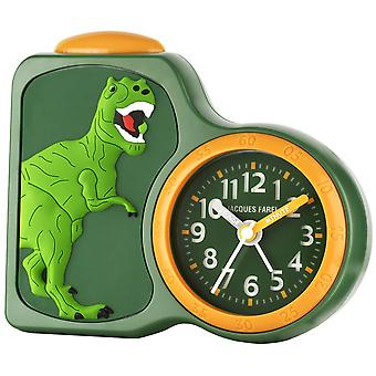 JACQUES FAREL Children's Alarm Clock Alarm Clock Analog Quartz Dino Boys ACB 06DINO Green