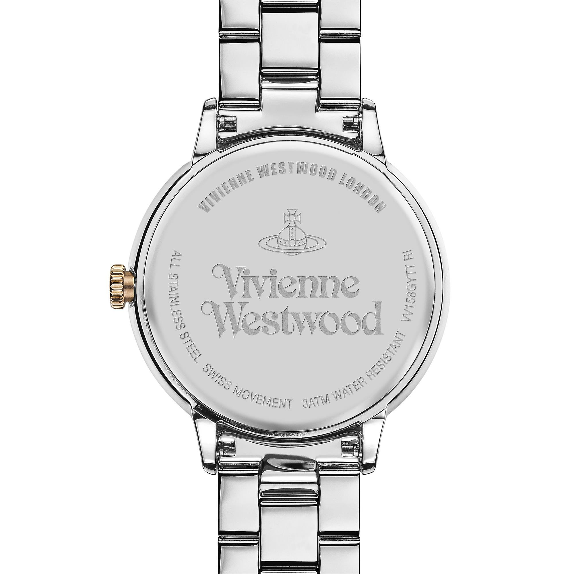 Vivienne Westwood Portobello Quartz Two Tone Rose Gold Silver Stainless Steel LadiesWatch