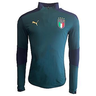 2019-2020 Italië Puma Quarter zip Trainingtop (grenen)