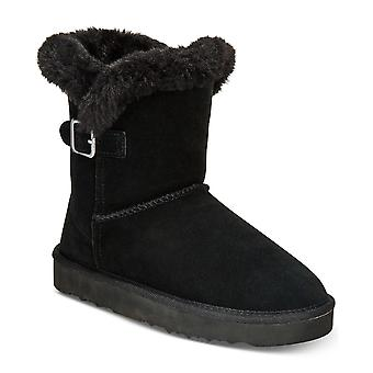 Style & Co. Womens Tiny2 Leather Round Toe Ankle Cold Weather Boots
