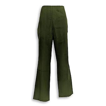 Isaac Mizrahi Live! Women's Pants 24/7 Straight Leg Green A270579