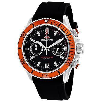 Seapro Men-apos;s Thrash Black Dial Watch - SP0334