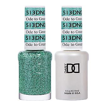 Dnd Duo Gel & Nail Polish Set - Ode To Green 513 - 2x15ml