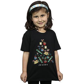 Friends Girls Christmas Tree T-Shirt