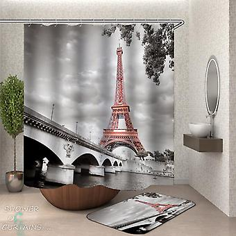 Shower Curtains Eiffel Tower Artistic Picture