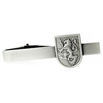 Pewter Scottish Lion Rampant Shield sagomato Tie Bar