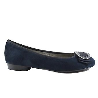Ara Pisa 53320-72 Blue Suede Leather Womens Slip On Shoes