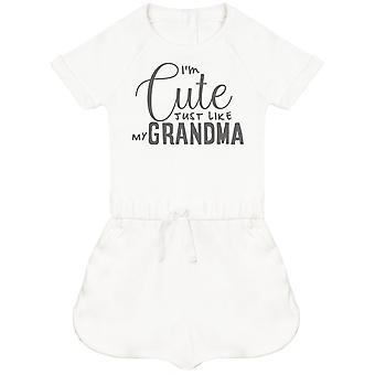 I'm Cute Just Like My Grandma Baby Playsuit
