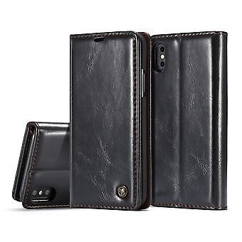Estojo para porta-cartões preto iPhone X