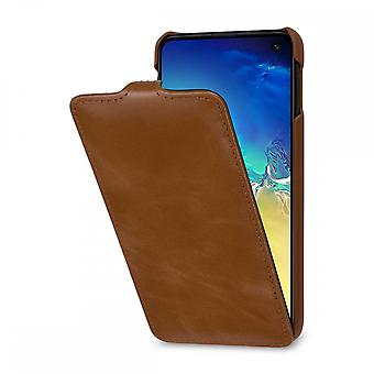 Case For Samsung Galaxy S10e Ultraslim In True Leather Cognac