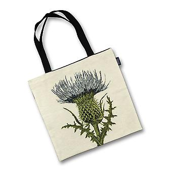 Mcalister textiles highland thistle tapestry tote bag