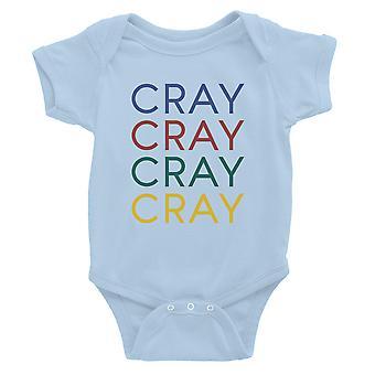 365 Printing Cray Baby Bodysuit Gift Sky Blue Baby Girl Birthday Baby Jumpsuit
