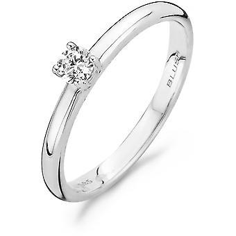 Ring Blush 11129WZI - White gold ring and zirconium oxide 3/5mm Women