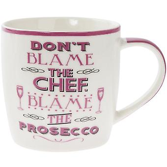 Lesser & Pavey Word Play Porcelain Mug - Blame the Prosecco
