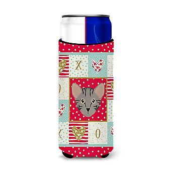 Carolines Treasures  CK5156MUK Safari Cat Michelob Ultra Hugger for slim cans