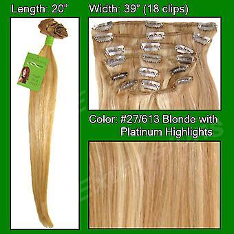 #27/613 kultainen vaalea w/Platinum Highlights-20 tuumaa Remi