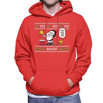 Peanuts Snoopy Dressed As Santa Men's Hooded Sweatshirt