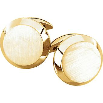14k Yellow Gold Polished Cuff Links Jewelry Gifts for Men - 14.3 Grams