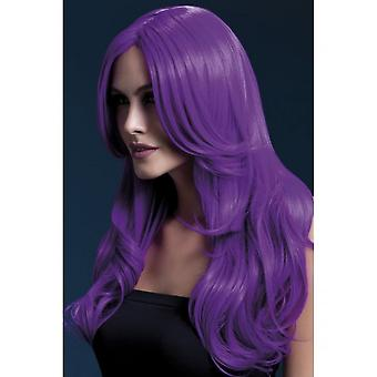 Smiffy's Fever Khloe Wig - Neon Purple
