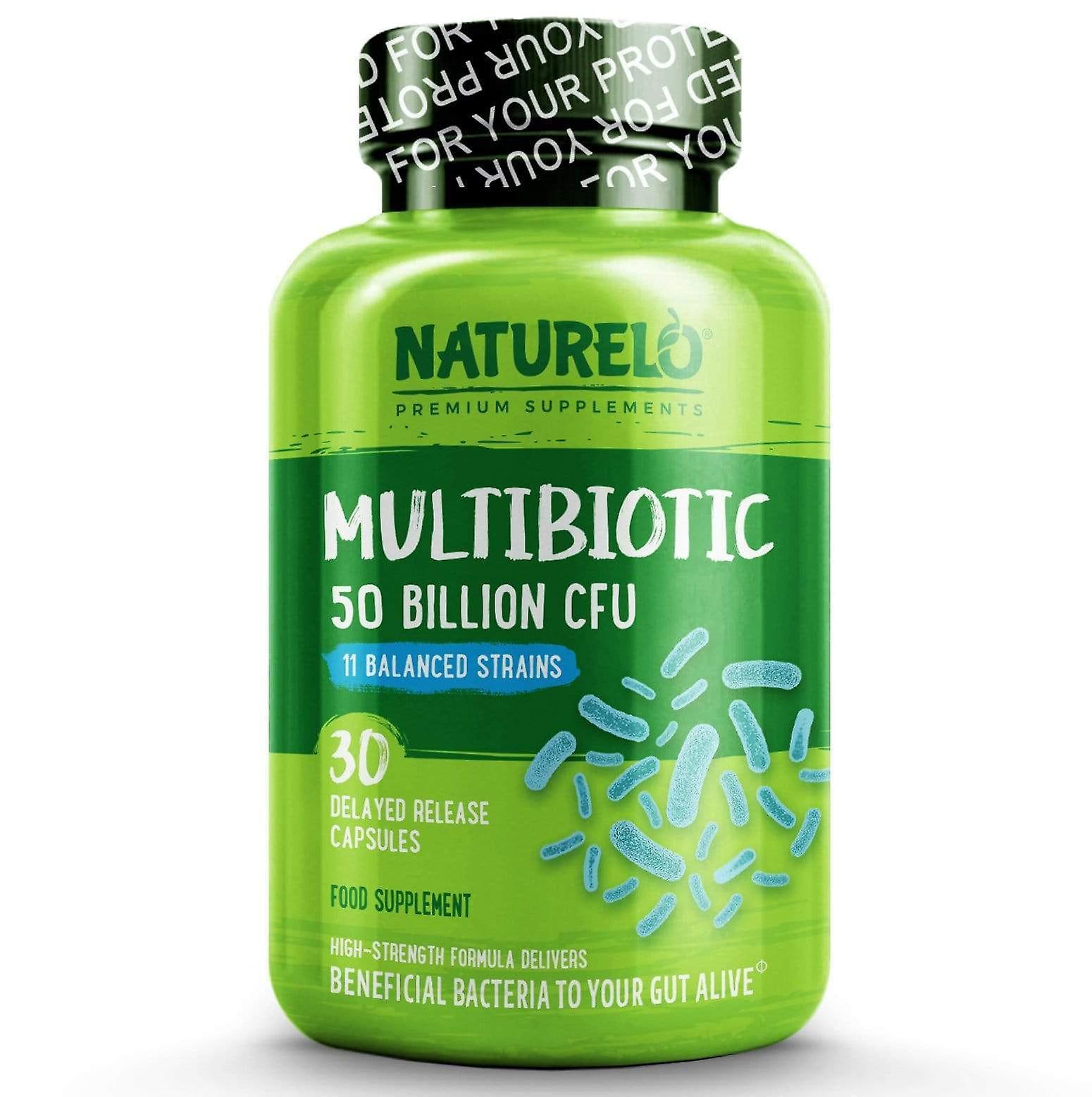 Multibiotic - 50 billion cfu, 11 balanced strains, no refrigeration needed