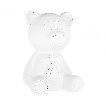 Premier Home Kids Bear Night Light, Porcelaine, Blanc