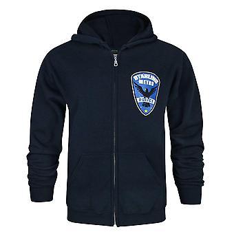 Arrow Starling City Metro Police Navy Blue Men's Zip-Up Hoodie