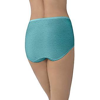 Vanity Fair Women's Underwear Illumination Brief, Rainforest Aqua, Maat 6.0