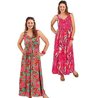 Pistachio Women's  Floral / Animal Print Bright Summer Maxi Dress