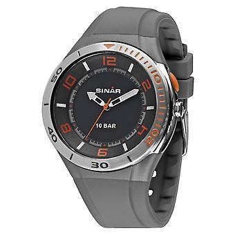 SINAR mládež hodinky náramkové hodinky Analog Quartz Unisex silikónové XB-31-9 šedá