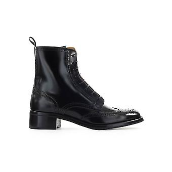 CHURCH'S BLACK SYLVIE POLISHED FUME BOVVER BOOT