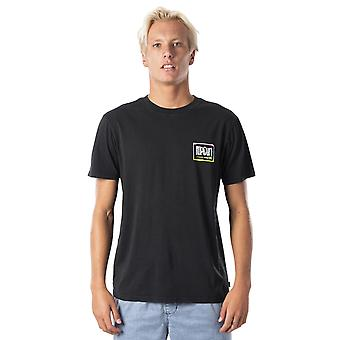 Rip Curl Native Glitch Short Sleeve T-Shirt en noir lavé