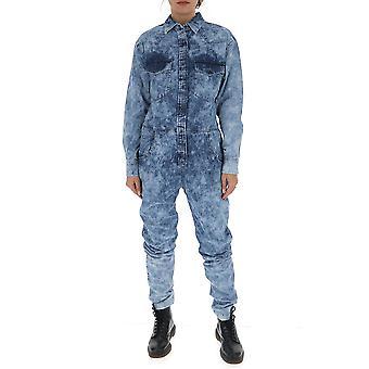 Isabel Marant ÉToile Cb026220p022e30bu Women's Blue Cotton Jumpsuit