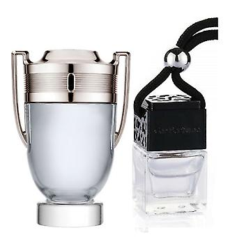 Paco Rabanne Invictus For Him Inspired Fragrance 8ml Black Lid Bouteille suspendu Véhicule Auto Air Assainisseur