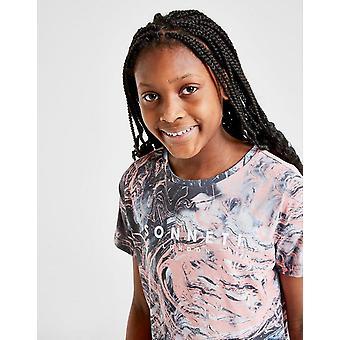 Ny Sonneti Girls' Paradise Marble kortærmet T-shirt Grå