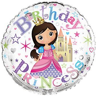 Simon Elvin 18 tums Birthday Princess folie ballong