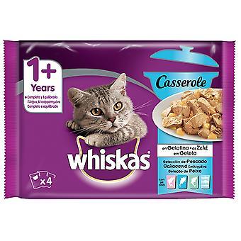 Whiskas Pack 4 Casserole 1+ Pescado (Cats , Cat Food , Wet Food)