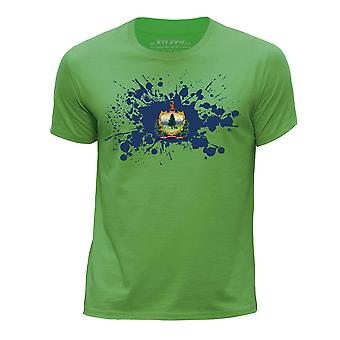 STUFF4 Chłopca rundy szyi T-shirty-Shirt / / Vermont stanu USA flaga ikona/zielony