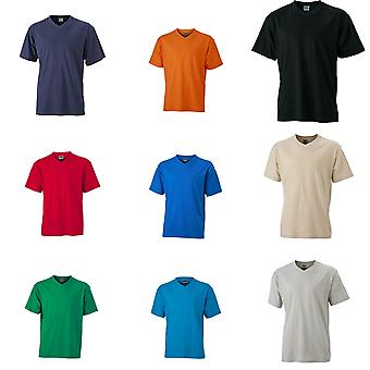 James und Nicholson Mens V Neck T-Shirt