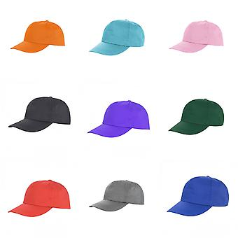 Result Unisex Core Houston 5 Panel Printers Baseball Cap (Pack of 2)