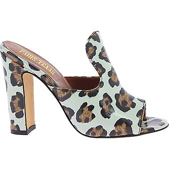 Paris Texas Px70canimal Women's Leopard Leather Slippers