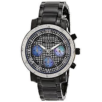 Akribos XXIV المرأة s، الكوارتز التناظرية اليابانية الرنانة ساعة العرض، اللون: أسود