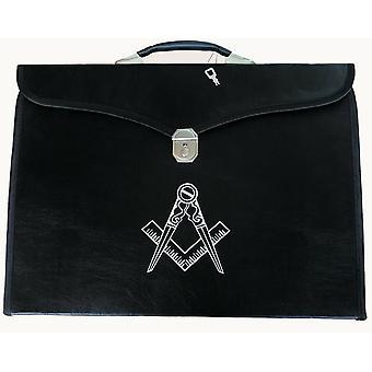 Masonic regalia mm/wm & provincial apron bag with compass
