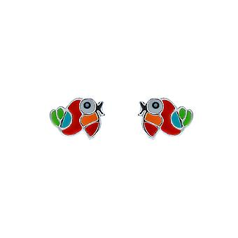 TOC Sterling Silver Multicoloured Parrot Stud Earrings