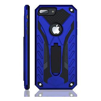 For iPhone 8 PLUS Case, Armour Strong Shockproof Tough Cover with Kickstand Blue