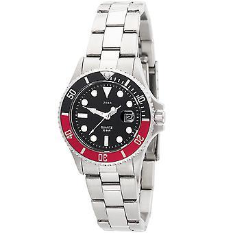 JOBO reloj de pulsera de mujer cuarzo analógico acero inoxidable con fecha